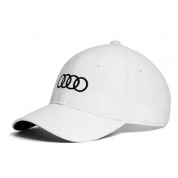 Šiltovka biela kruhy Audi