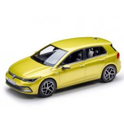 Model auta VW Golf 8 1:43, limetková žltá